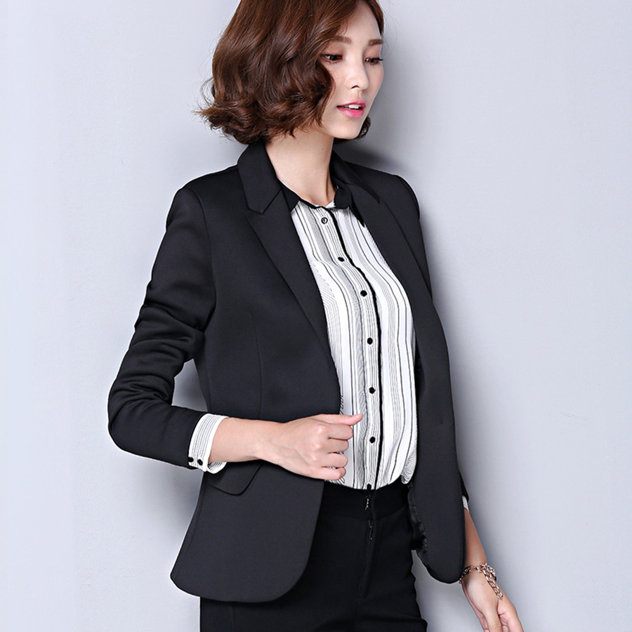 Fashion Jacket Blazers Ladies Suit Styles Coat Business Blazer Long Sleeve Korean Beautiful Womens Suits Woman Outwear X60049