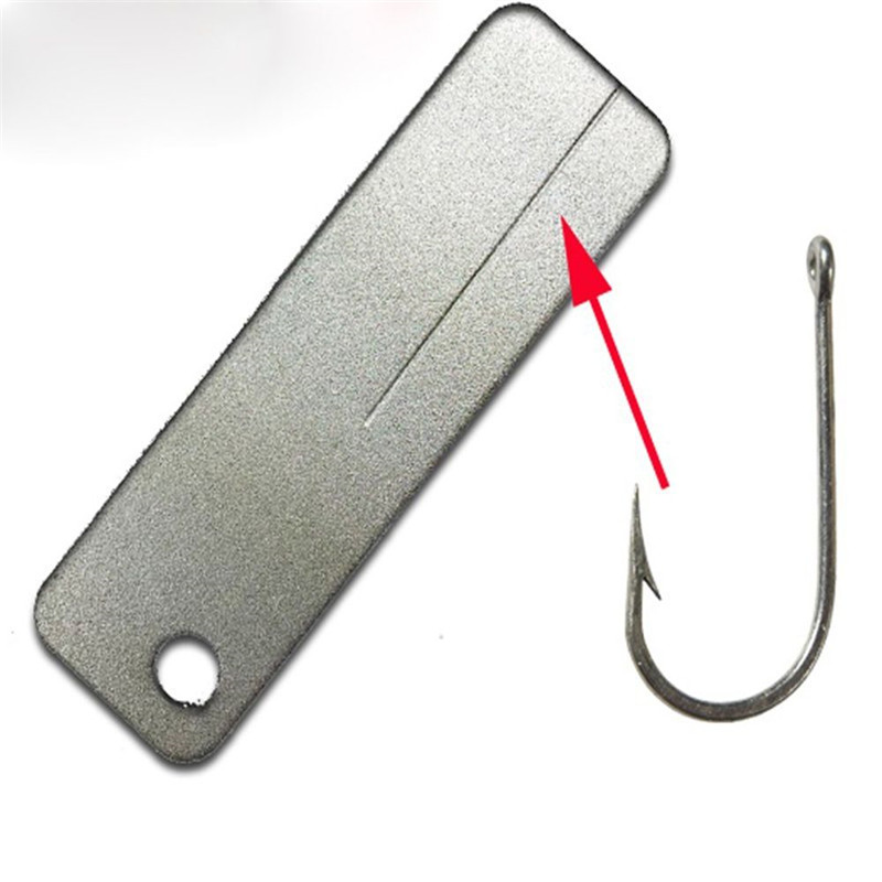 1 PC Pocket Sharpener with keychain Diamond Knife Sharpening Stone knife sharpener