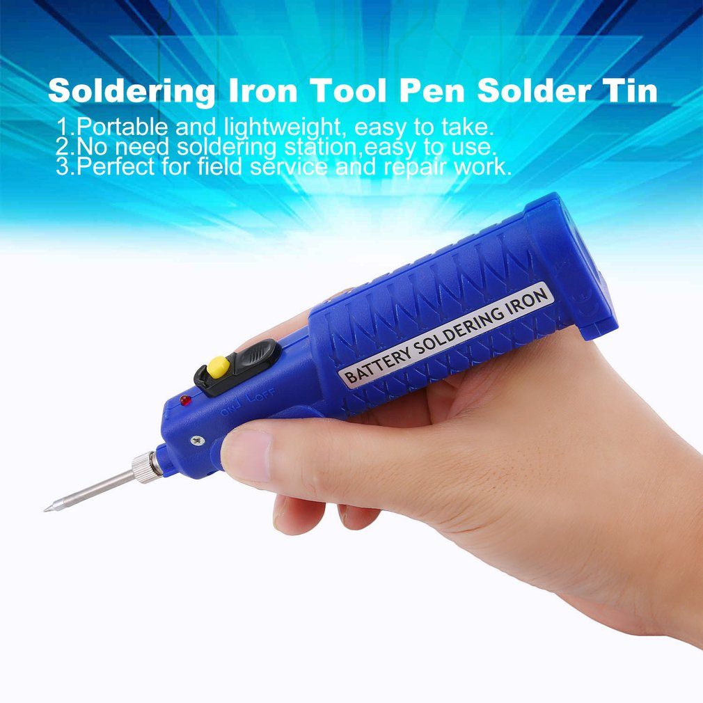 8W 4.5V Electronic Welding Battery Powered Soldering Iron Tool Electric Pen Solder Tin Wire Mini Welding Tools Sale