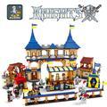 Kits de edificio modelo compatible con lego Knights castle series 3D modelo de construcción bloques Educativos juguetes y pasatiempos para niños