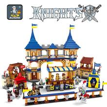 Model building kits compatible with lego Knights castle series 3D blocks Educational model building toys hobbies for children