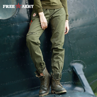 Fall 2017 Pants Camo Sports Trousers Elastic Waist Trousers For Women Trouser Four Color Palazzo Pants