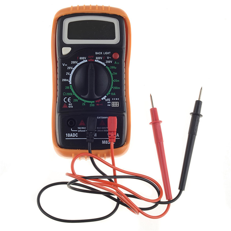 Digital Multimeter Tester Electrical 2000 LCD Display Backlight + Test Leads/Probe &Temperature Line T0.05