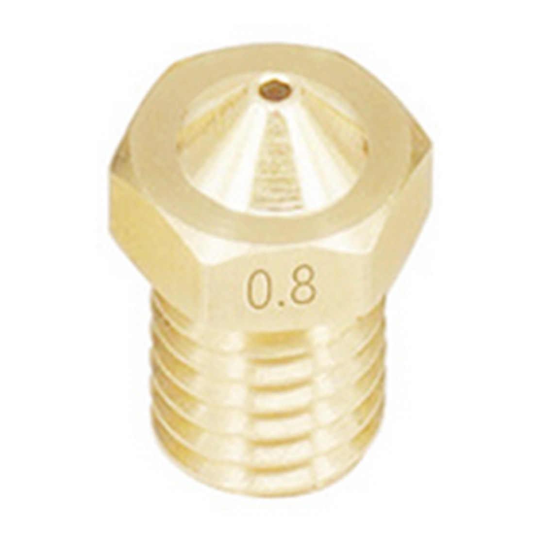3D Phụ Kiện Máy In V5 V6 M6 Ren Vòi Phun 0.2 0.25 0.3 0.35 0.4 0.5 0.6 0.8 1.0 Mm Cho 1.75mm Filamnet Full Kim Loại E3D