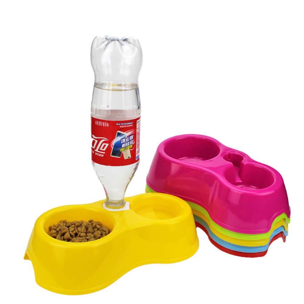 Dual Port Dog Automatic Water Dispenser Feeder Utensils Bowl For Cat Food Dish Pet Bowl Small Dog Drinking Bowls Kitten Kettle