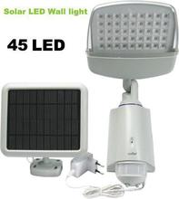 45 led solar infrared sensor lamp body sensor lights wall street lamp villa solar led spot lamp for emergency use