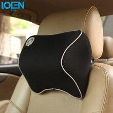 LOEN Memory Foam car pillow seat cover Headrest Neck comfortable for toyota ford kia vw Hyudnai chevrolet nissan buick
