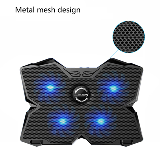 New  Laptop Cooler USB Laptop Cooling Pad 4 Fans Notebook Stand LED Backlight for Laptops Gaming Daily Use 1