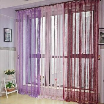 200×100 cm Modern Cute Flash Line Shiny Tassel String Door Curtain Window Room Divider Curtain Valance Home Decoration