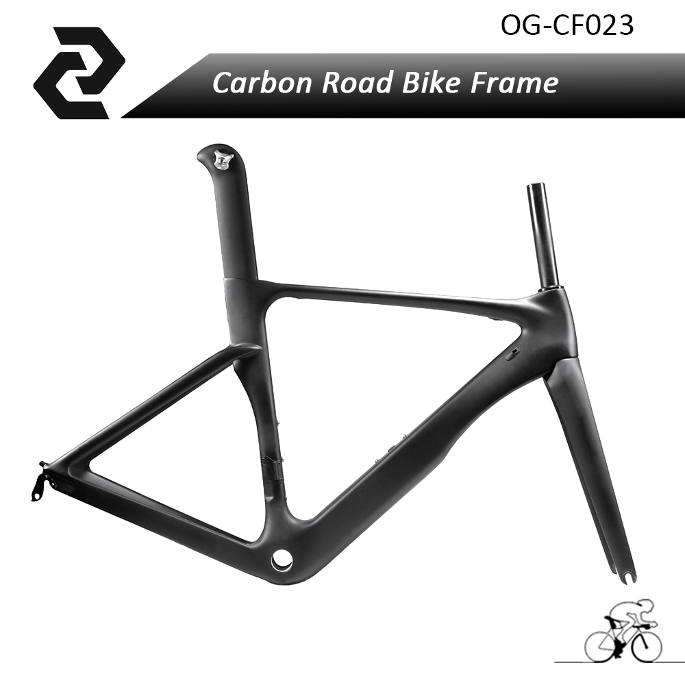OG-EVKIN BICICLETA Bike Cycling Frameset Carbon Road Bicycle Frame 49 52 54 56 58cm BB86 Di2 UD Glossy Matte Carbon Road Frame bontrager 26 2 2 52 54 купить шину