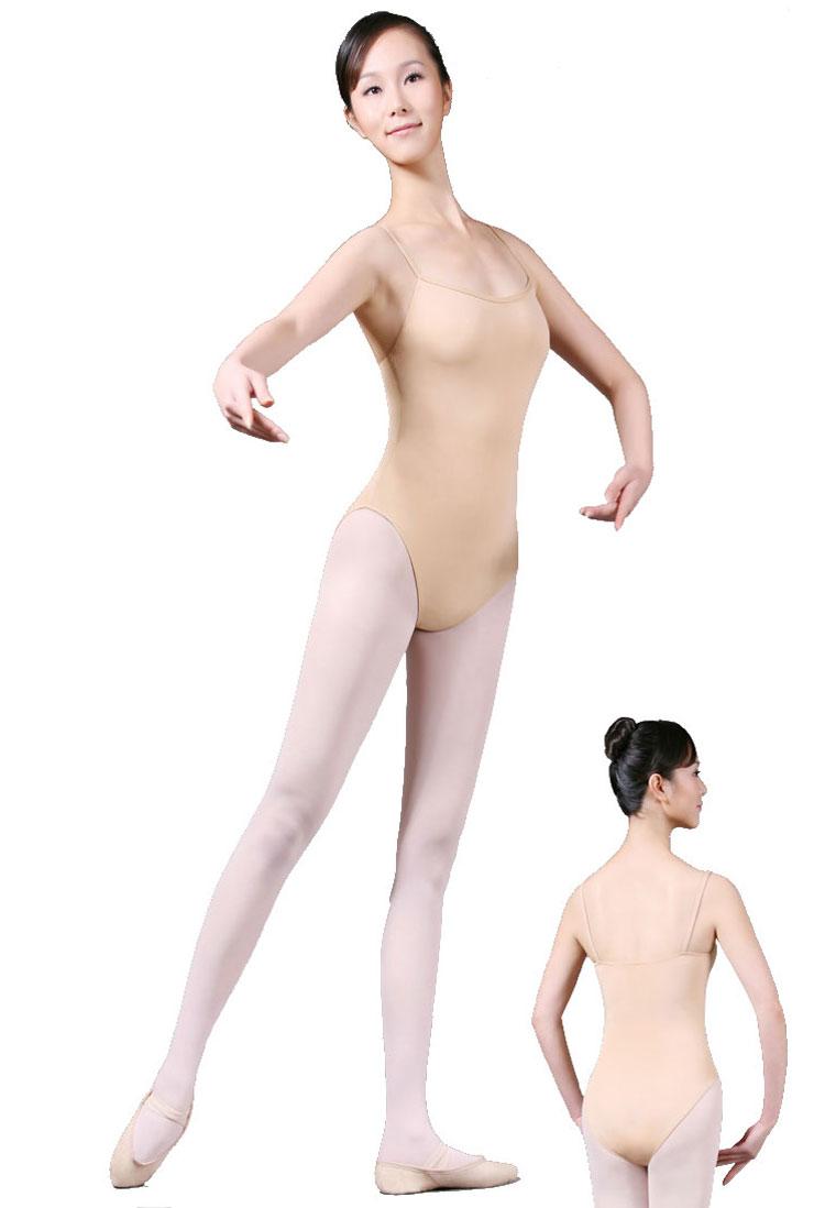 Adult girls Ballet dance costume Tight and leotard practise clothing Gymnastics Dance Leotard women Ballet Skin Colored Leotard