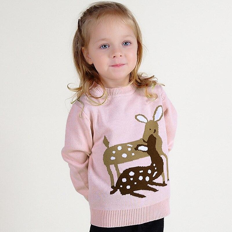 Обувь для девочек животных вышивка Топы на осень свитер зимняя одежда для девочек для От 0 до 7 лет для малышей Бесплатная доставка