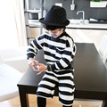 The child's boys suits children 2017 new spring in the leisure sports sweater striped suit 5301