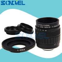 Fujian 35mm f1.7 cctv tv filme lente + c montagem anel macro para canon eos m m2 m3 m5 m6 m10 m100 câmera sem espelho