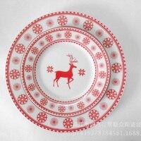 Керамика и Western блюд Санкт-Ян Главная Украшение Подарок европейский и американский Снежинка красный олень