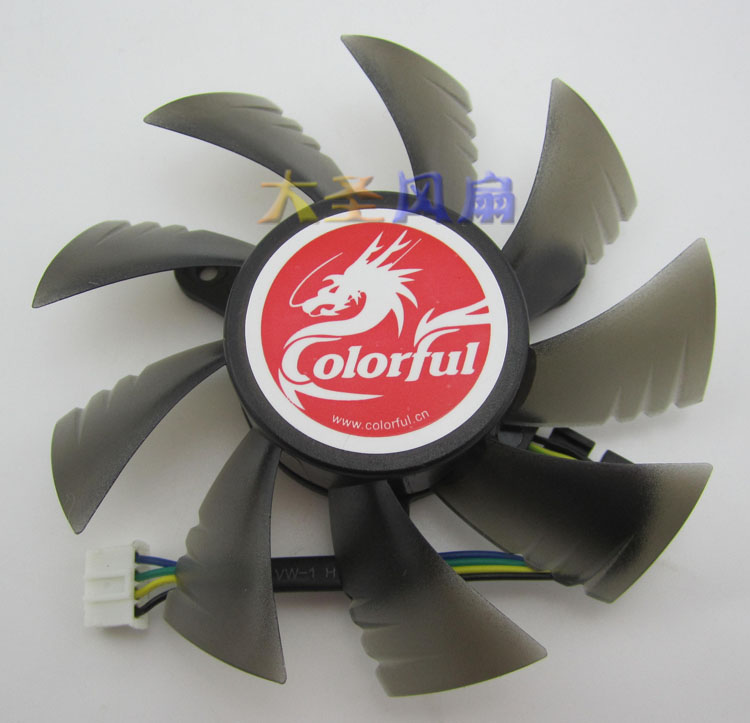 Original Colorful GTS450 <font><b>GT630</b></font> Netcom GTX650 Silent Graphics <font><b>Fan</b></font> image