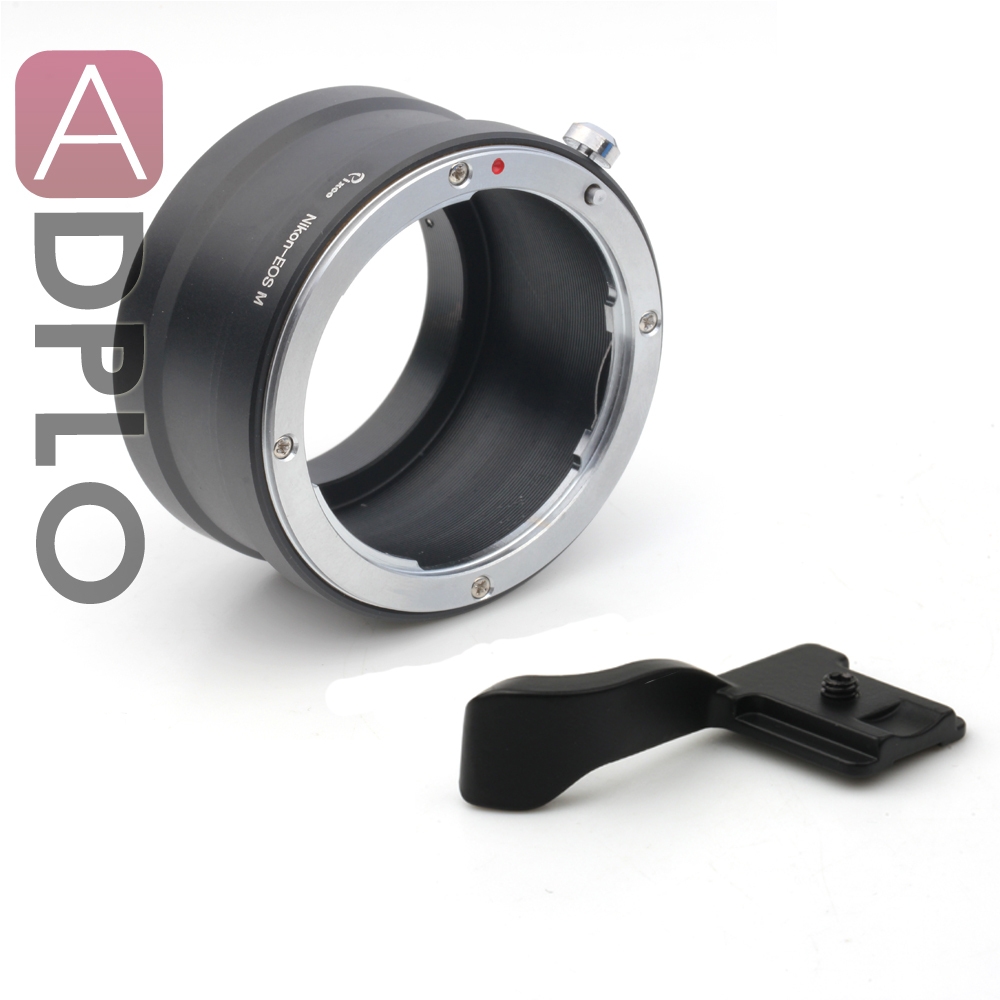 Pixco Mount Adapter Suit For Nikon AF AF-S F Mount Lens To Canon EOS M Mirrorless Camera M3 M2 M+ Hot Shoe Cover  (black)