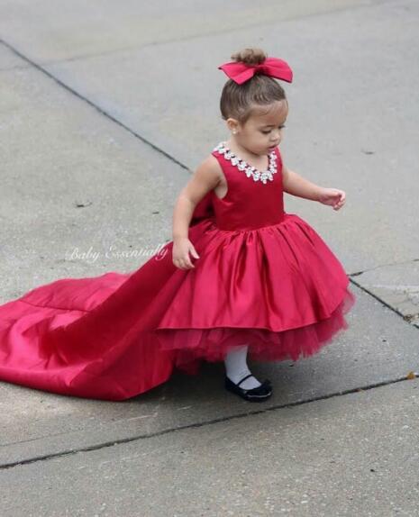 geometry toddler cotton casual newborn party dress baby girl princess tutu dress flower dress music note party swing dress