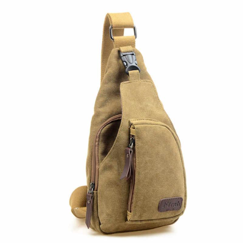 Sacos de Peito dos homens Da Lona de Viagem saco Do Mensageiro Do Ombro Ocasional Crossbody Mochila Bolsa de Ombro Moda Pequeno Saco De Viagem dos homens