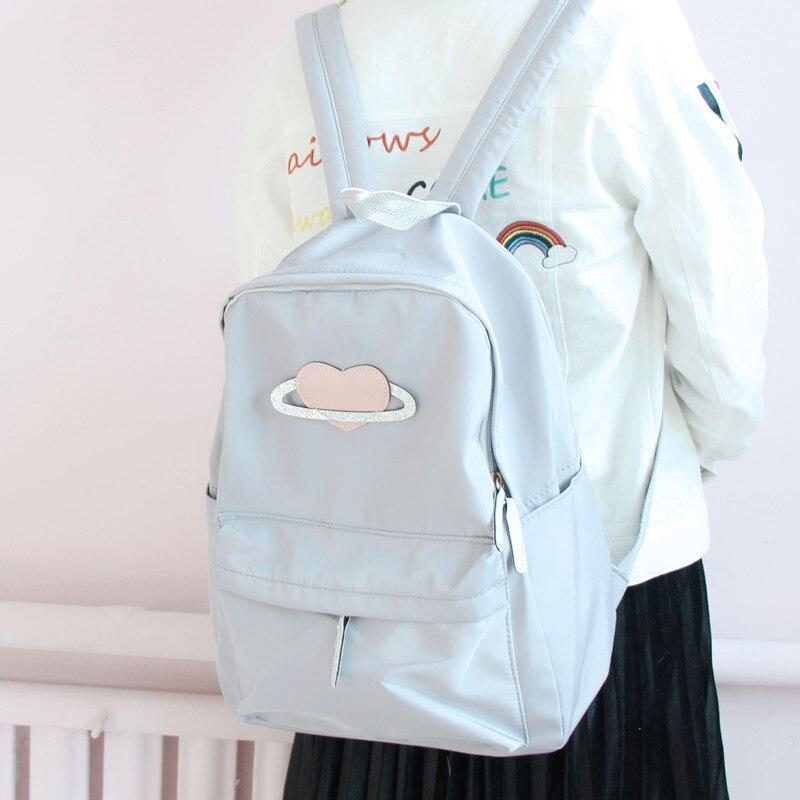 Backpack female canvas Korean version of the fresh college student girl  Japanese Harajuku leisure travel large 240e8ed98ff3f