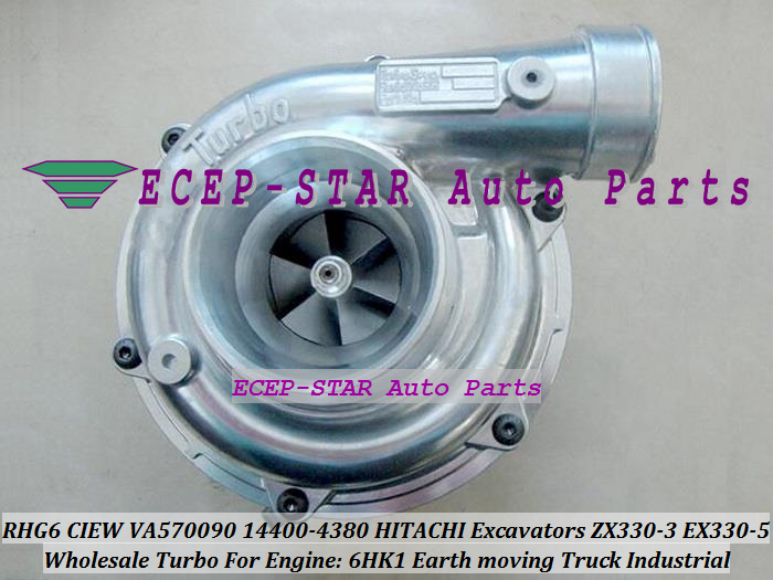 RHG6 CIEW VA570090 114400-4380 Turbo Turbocharger For HITACHI For ISUZU Excavator Earth Moving ZX350 ZX330-3 EX330-5 6HK1 6HK1X
