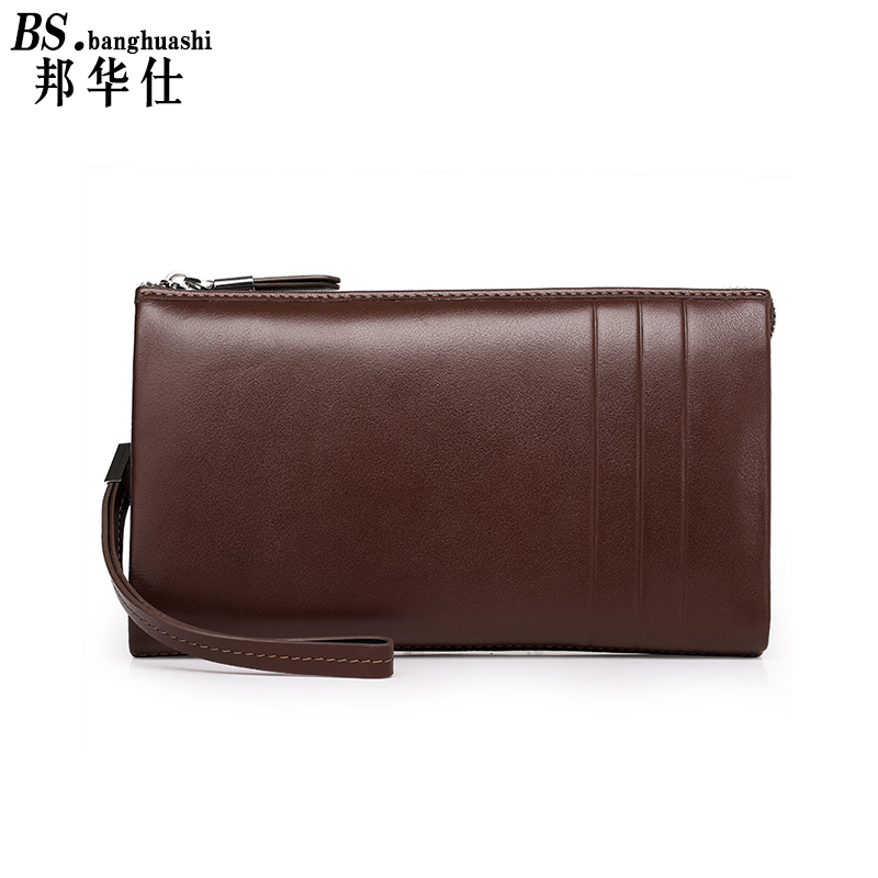 Business Men Long Wallet Designer Zipper Genuine Leather Male Purse Brand Mens Clutch Handy Bag Luxury Wallets ol Purse designer 2017 new mens ostrich wallet men clutch wallet cowhide genuine leather zipper long male purse phone holder famous brand