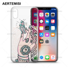 Aertemisi Phone Cases Boho Magic Transparent Crystal Clear Soft TPU Case Cover for iPhone 5 5s SE 6 6s 7 8 Plus X(China)