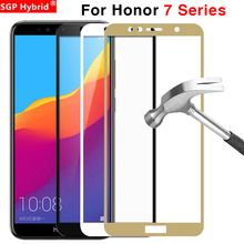 Cristal Protector para Huawei Honor 7x7 s 7a 7c Pro cristal templado en los 7 X S A C X7 S7 A7 C7 7apro 7cpro funda protectora de pantalla