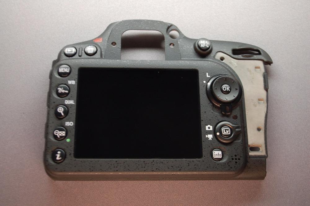 Free shipping ! New back cover assy with LCD screen assy and botton bar repair parts for Nikon D7100 SLR camera