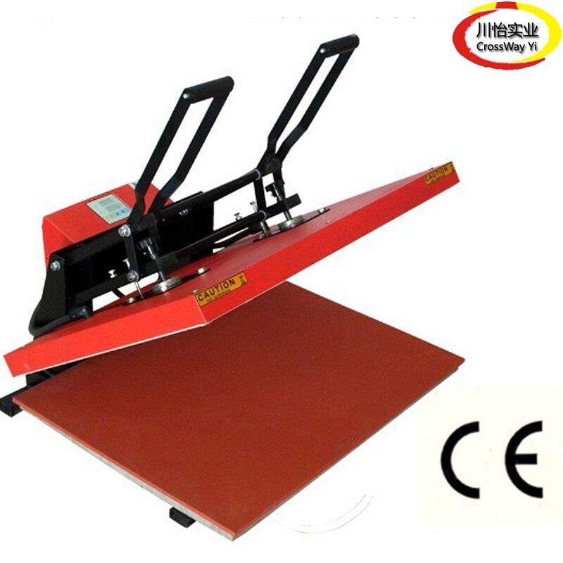 Large Size Manual Heat press machine 60cm 80cm cheap manual swing away heat press machine for flatbed print 38 38cm