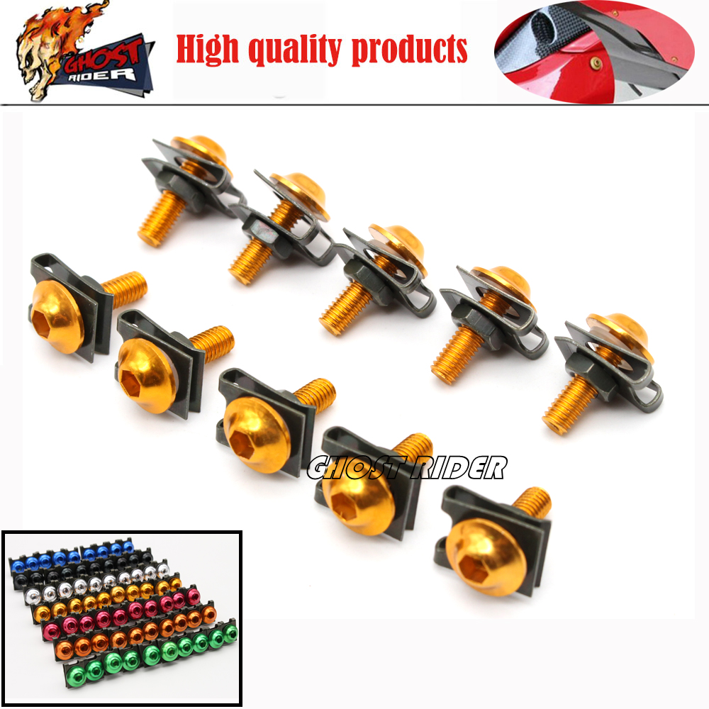 6mm Universal CNC Motorbike Accessories Fairing Body work Bolts Screws fits for CBR250R  ...