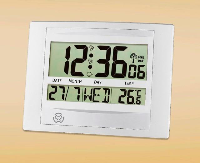JIMEI H104C DCF Digital WallTable Clock Europe Radio controlled