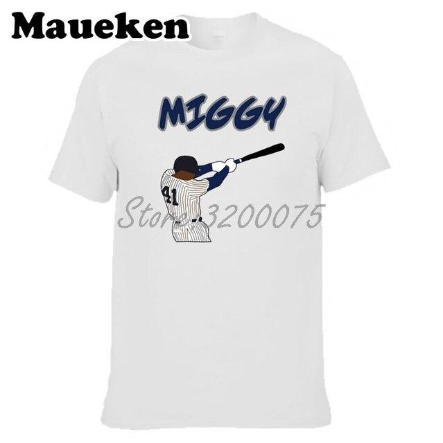 3989608e04ed5 Hombres Miguel Andujar 41 MIGGY Nueva York T-shirt ropa hombres camiseta  para Yankees fans