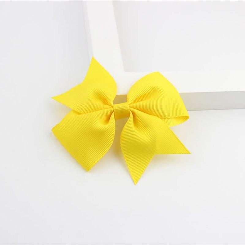 Новые модные маленькие заколки для волос для маленьких девочек, милые заколки для волос карамельного цвета с цветком, детские заколки, аксессуары для волос - Цвет: a18 Yellow