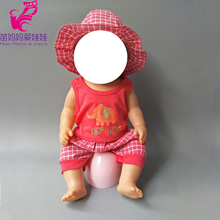 Doll Clothes Fit for 43cm  Baby Born clothes hat Suit with 18 inch doll children gift