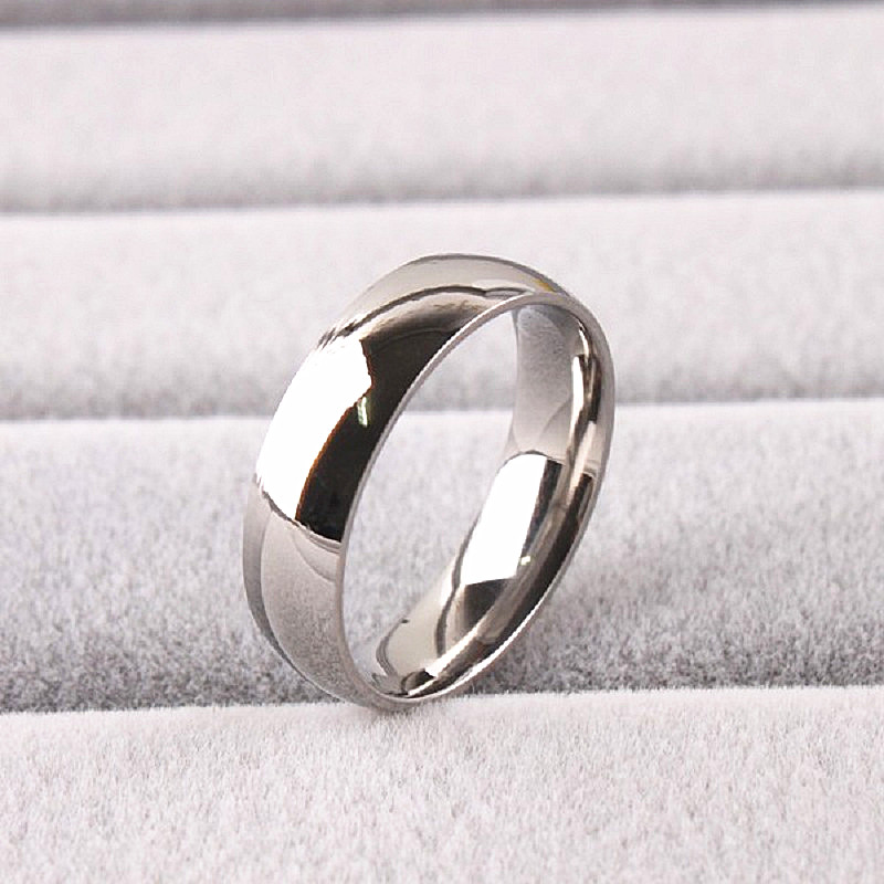 wholesale bulk lots 100PCs Silver Polished stainless steel wedding 6mm band Jewelry Rings