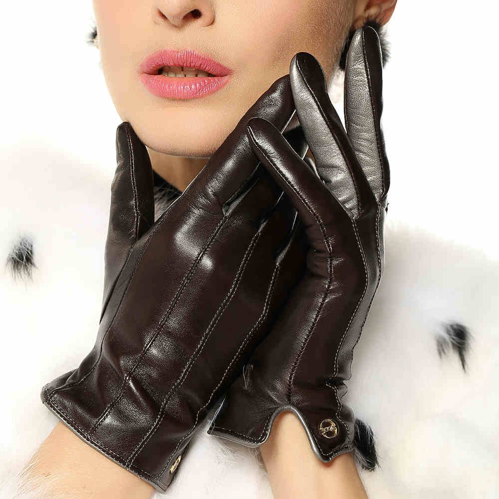 Ladies leather gloves designer - Aliexpress Com Buy High Quality Genuine Lambskin Leather Gloves Women Autumn And Winter Elegant Ladies Branded Designer Hot Trendy Fashion Colors From