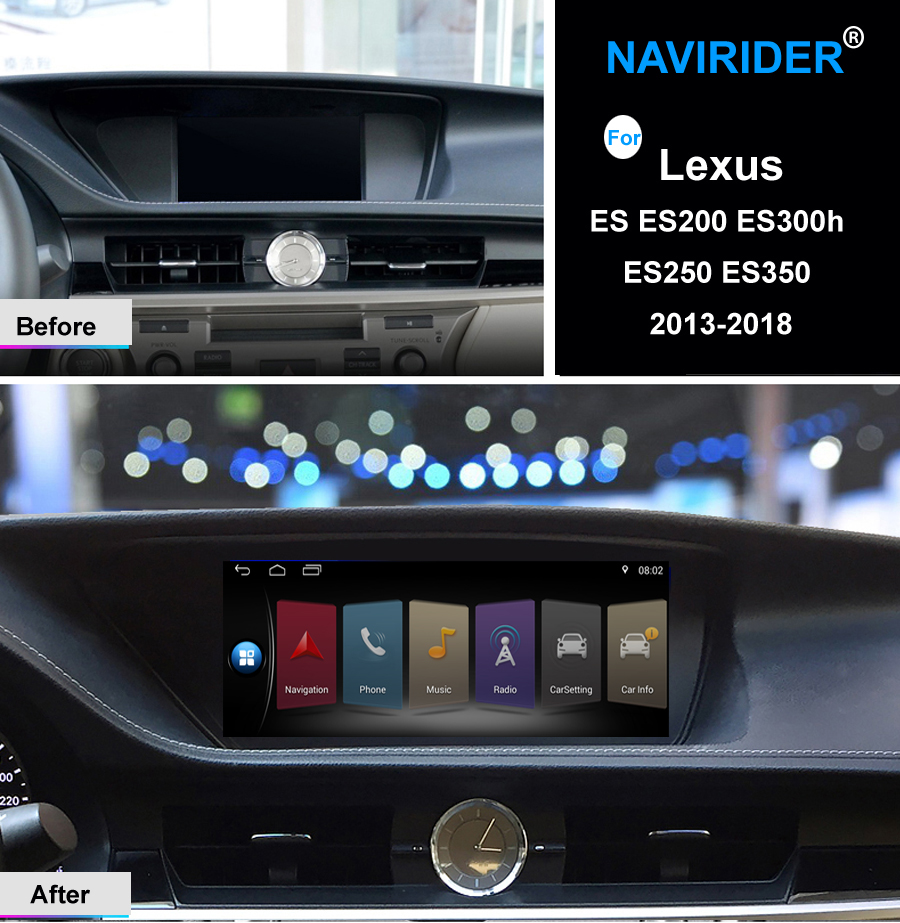 quad core Android 7.1 Car multimedia head unit touch screen stereo gps navi For Lexus ES ES200 ES300h ES250 ES350 2013-2018