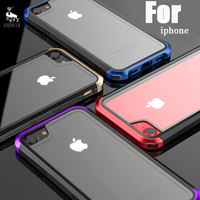 For IPhone 6 6S 7 Plus Case Luxury LUPHIE Metal Tempered Glass PC 3 In 1