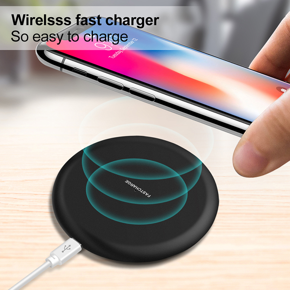 NTONPOWER Qi Wireless Charger For iPhone X XR XS 8 plus 10W Wireless Fast Charging pad for Samsung Xiaomi Huawei-in Mobile Phone Chargers from Cellphones & Telecommunications