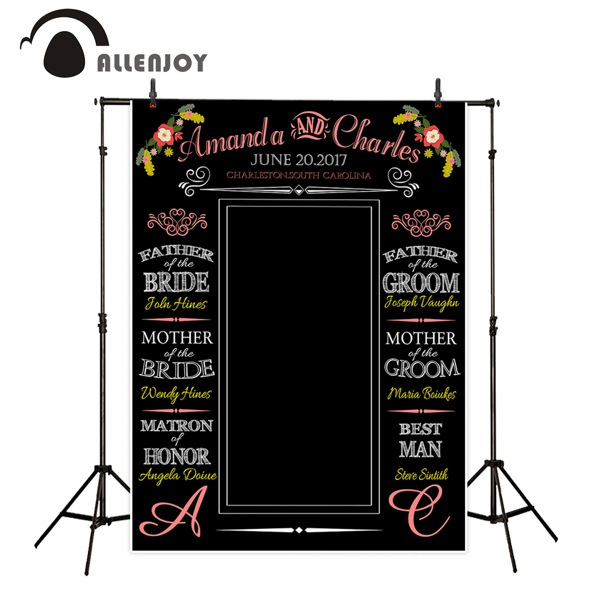 Allenjoy photography backdrops love wedding black bottom colorful backgrounds Valentine's Day theme backdrop allenjoy photography backdrops love pink romantic background photography wedding backdrop for valentine s day