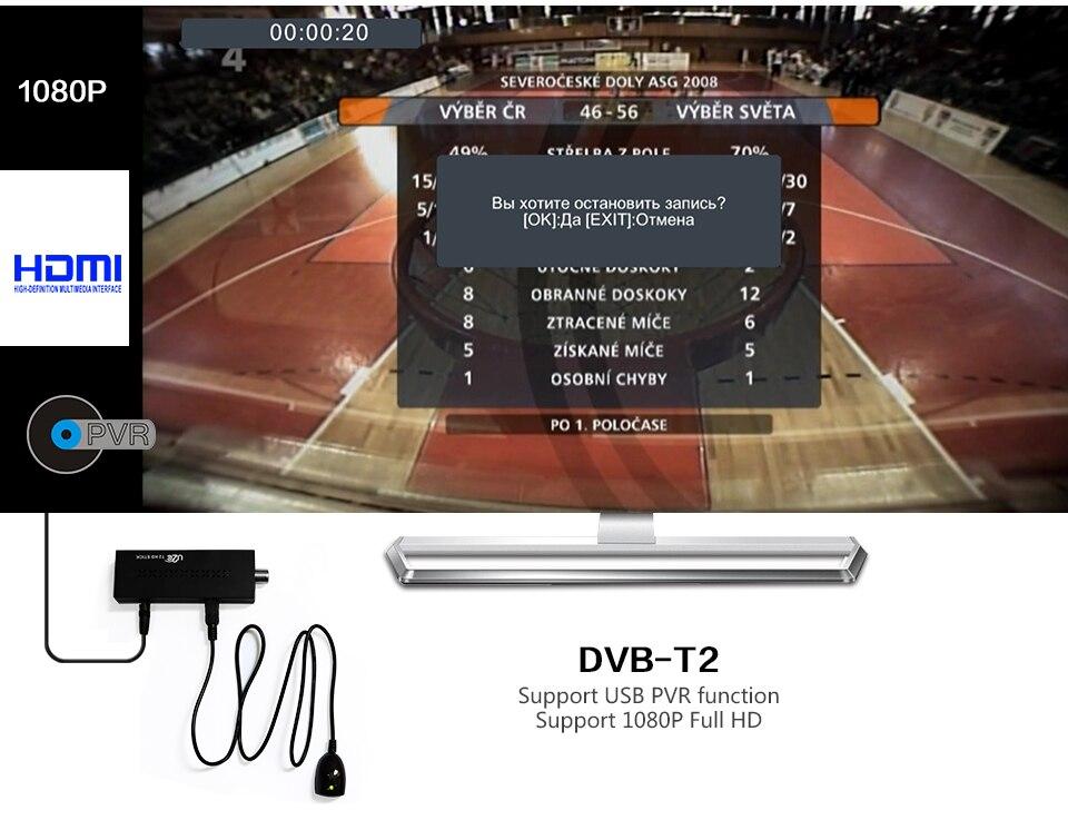 Mini DVBT2 TV qəbuledicisi DVB-T2 TV Stik Dəstək MP3 MPEG4 Format - Evdə audio və video - Fotoqrafiya 6