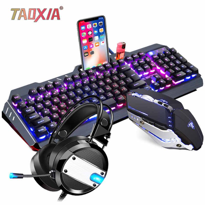 104 keys Gaming English Russian Keyboard Mechanical Feel