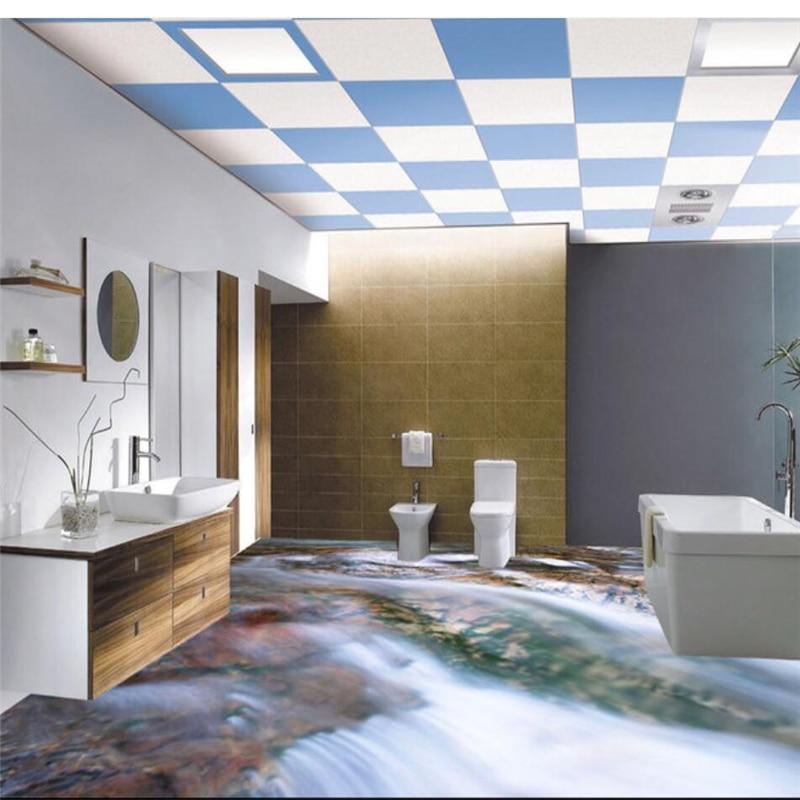 beibehang Custom Flooring 3d Photo Decorative Painting 3D Bathroom ...