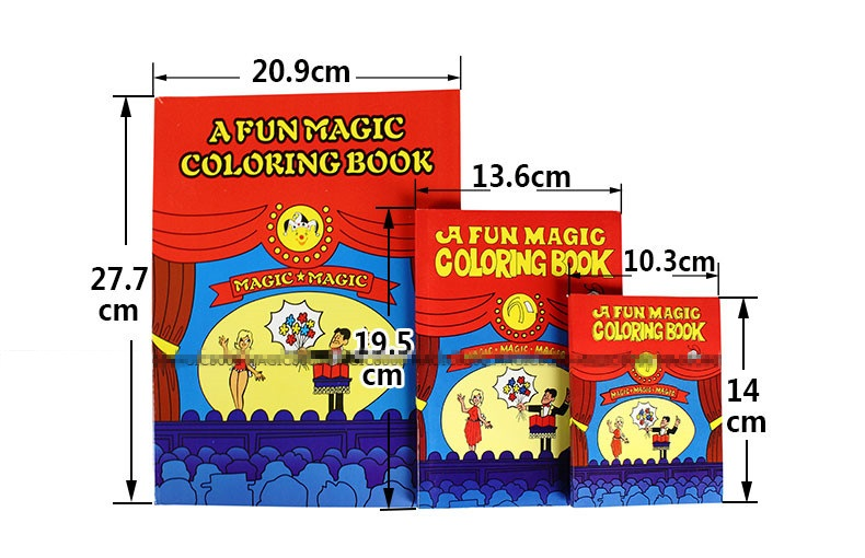 1pcs small funny coloring book comedy magic books close up street magic tricks grimoire spellbook child puzzle toy kid best gift in magic tricks from toys - Coloring Book Magic Trick