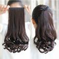 Природных Мода Длинные Вьющиеся Волосы в Хвост Кружева Клип в Синтетических Волос Расширение Хвост Для Женщин