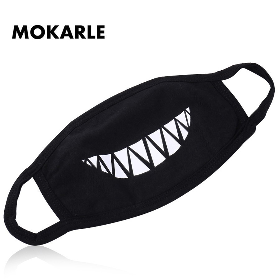 Masks Anime Anti Dust Facial Mask Zipper Unisex Black Mouth Mask Women Men Muffle Face Mouth Masks Anti Pollution Cotton Mouth Cover