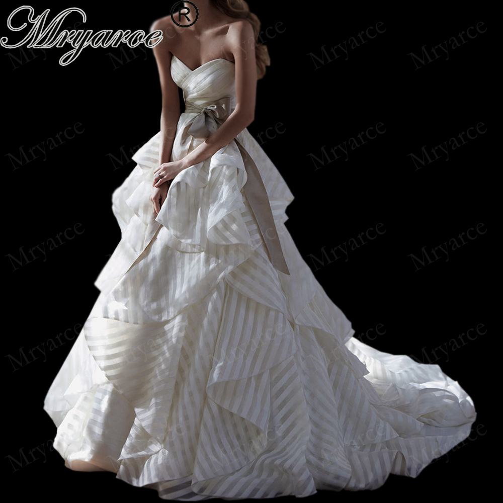Organza Wedding Gowns: Aliexpress.com : Buy Mryarce 2019 Striped Organza Wedding