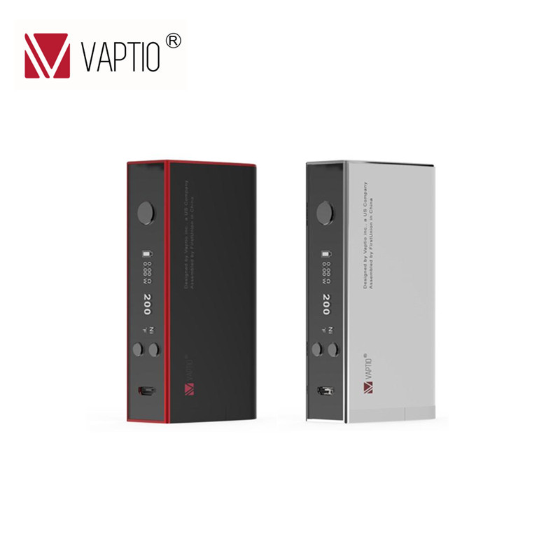 100% Original Vaptio TC 150 W caja Mod cigarrillo electrónico S150 Vape Mod Control de temperatura Mod OLED pantalla 18650 batería mod vs smok