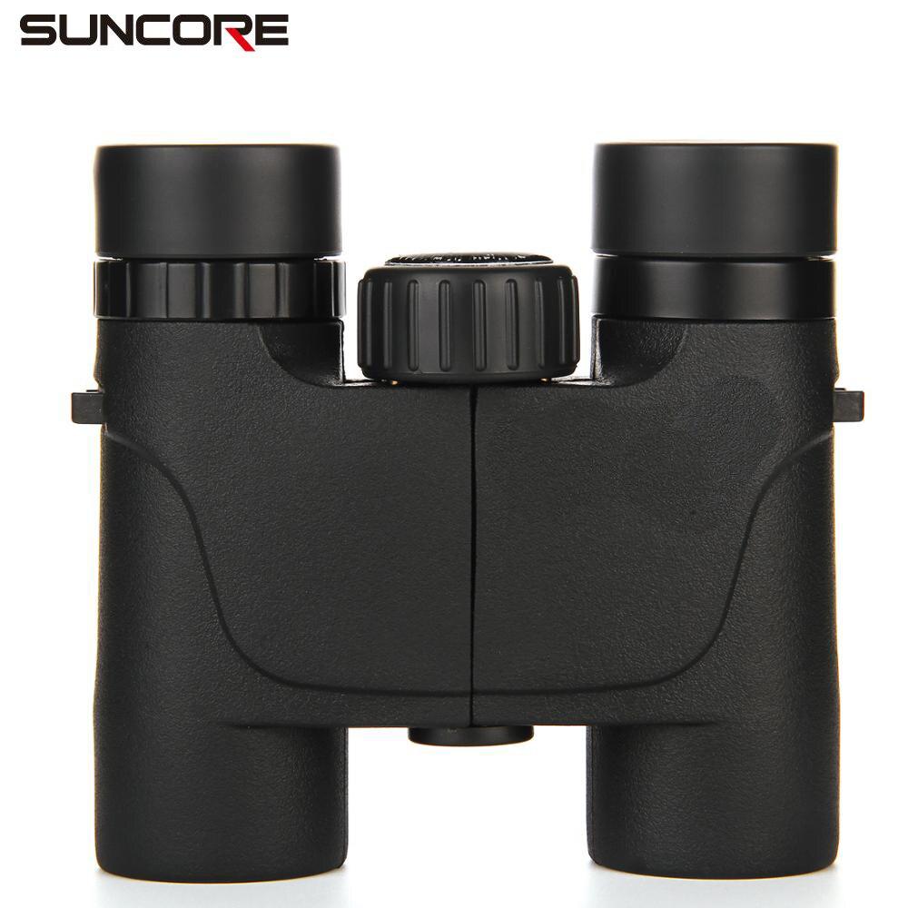 SUNCORE 8X25 /10x25 Roof Outdoor Camping/Hunting/Travelling Binoculares Compact Waterproof BAK4 Binocular бинокль bushnell h2o roof compact 10x25 цвет синий